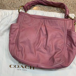 Pink Leather Coach Bag
